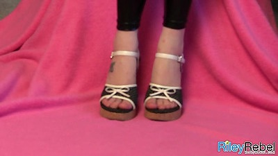 Riley Rebel and her sex new feet in scandals showing