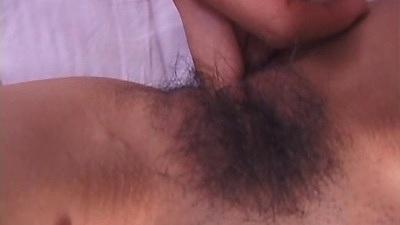 Hairy asian girl fingered and blowjob scene