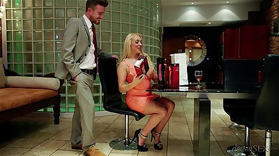 Blonde valentine costume with masturbation from Victoria Summers