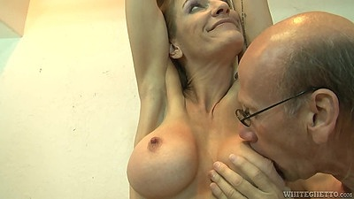 Grandpa loves older women with big tits and mommy style Robbye Bentley