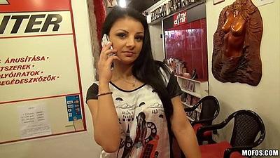 Public picking up the porn star cashier Aysha Rouge