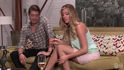 Blonde Samantha Saint is having a break up