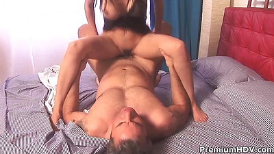Naughty milf hairy Shy Love is riding cock then some rear fuck
