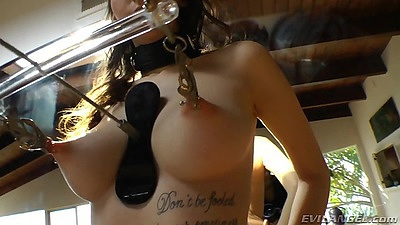 Nipple torture with fetish and pierced girls