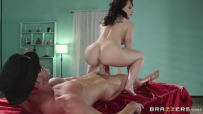 Revere cowgirl after massage fuck and table hole blowjob Katie St. Ives