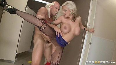 Standing fuck with pantyhose bitch Kate Frost