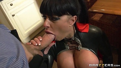 Big dick blowjob with costume housewife mil Kerry Louise